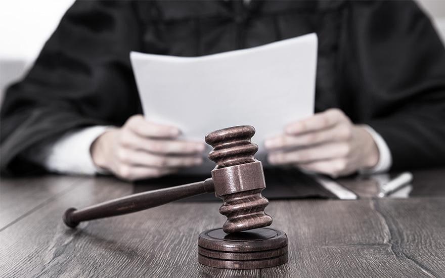 czytanie wyroku napodczas rozprawy